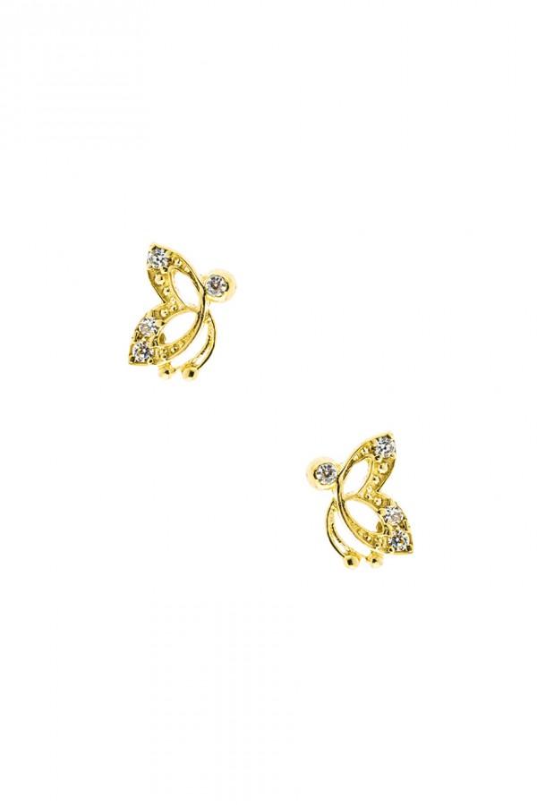 Σκουλαρίκι Πεταλούδα Ζιργκόν