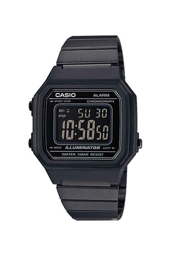 Casio Retro Black Stainless Steel B-650WB-1BEF