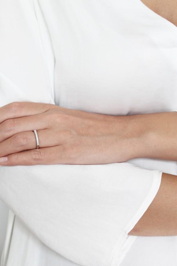 Δαχτυλίδι Λευκόχρυσο 18Κ Διαμάντι Σειρέ 0,13Ct