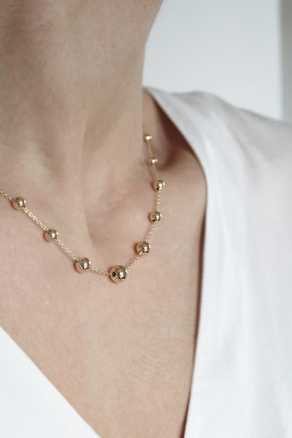 Κολιέ Χρυσό Bead It Shine