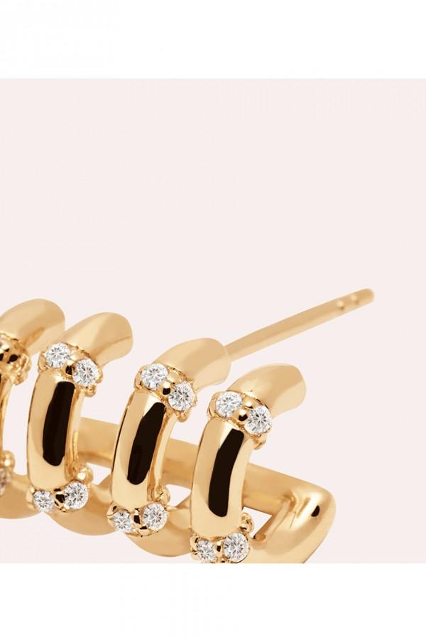Σκουλαρίκι PD PAOLA Ασήμι Giselle Gold
