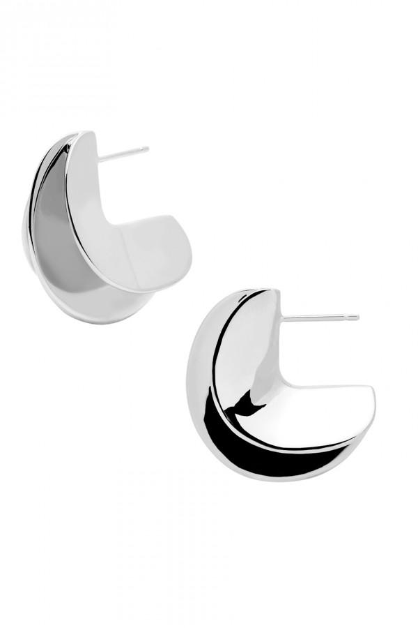 Σκουλαρίκι PD PAOLA ορείχαλκος Eclipse Silver