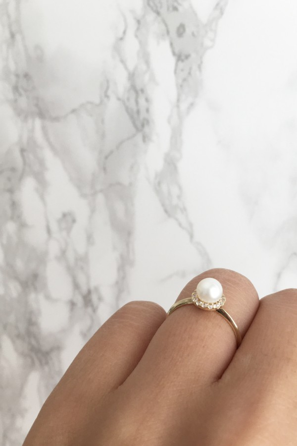 Δαχτυλίδι Χρυσό Μαργαριτάρι Simple