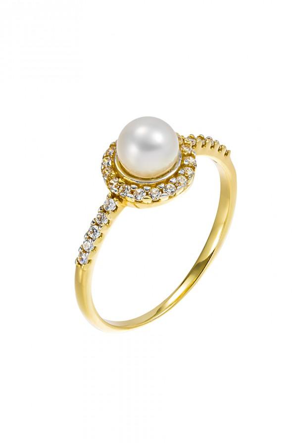 Δαχτυλίδι Χρυσό 14Κ Μαργαριτάρι Chic