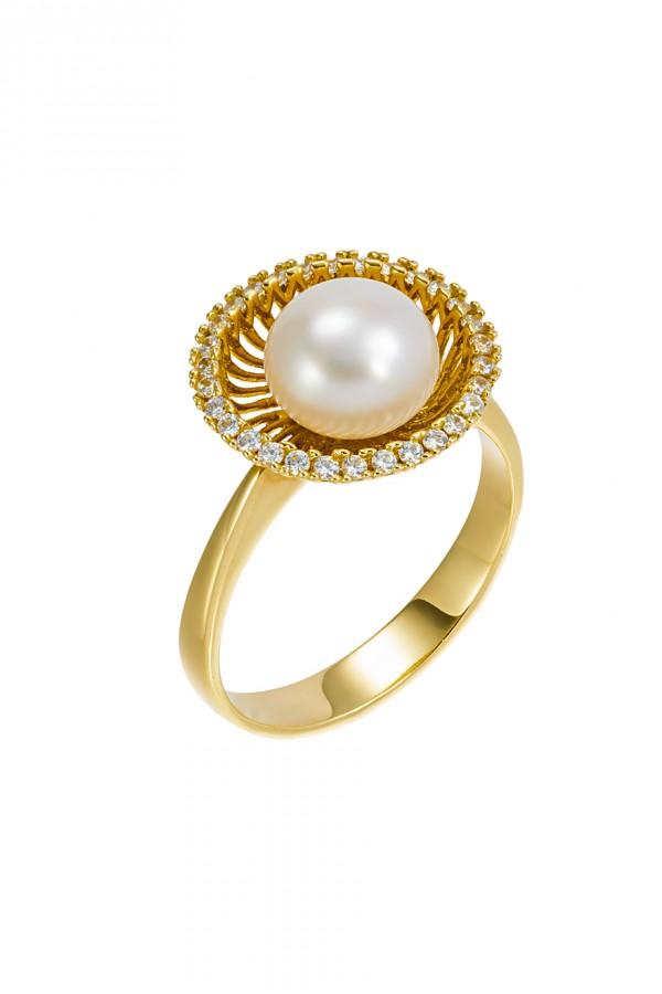 Δαχτυλίδι Χρυσό Μαργαριτάρι Elite