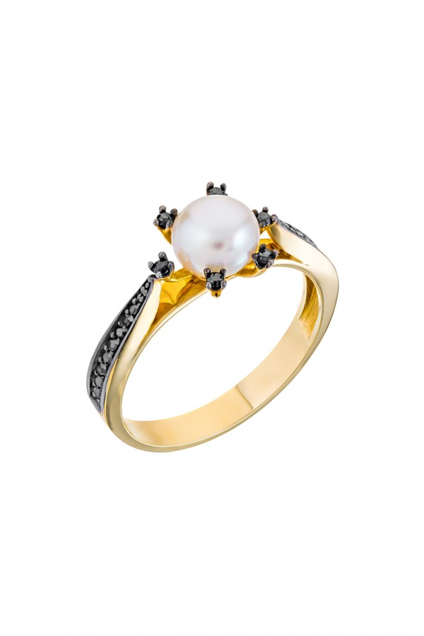 Δαχτυλίδι Μαργαριτάρι Λουλούδι Μοντέρνο