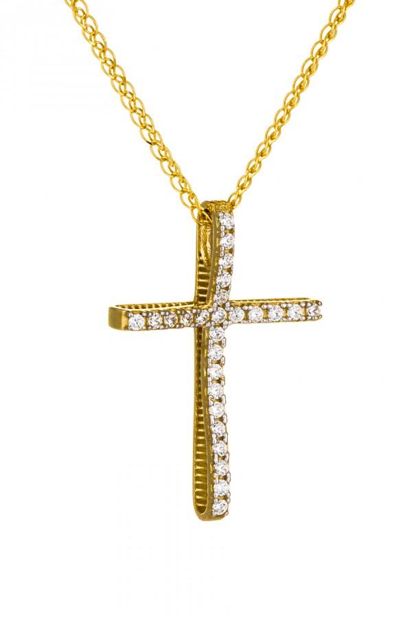 Σταυρός Βάπτισης Χρυσός 14Κ Οικονομικός Πετράτος 3513