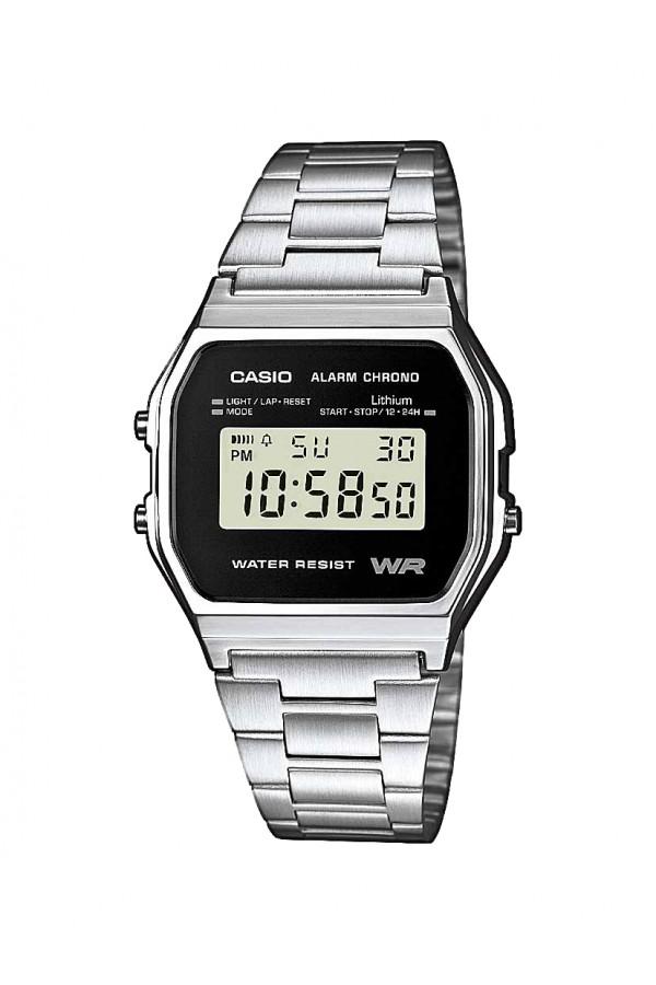 Casio Digital Stainless Steel A158WEA-1EF