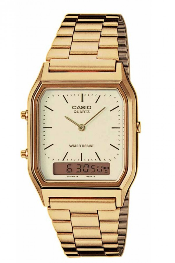 Casio Anadigi Gold Stainless Steel AQ230GA9DM