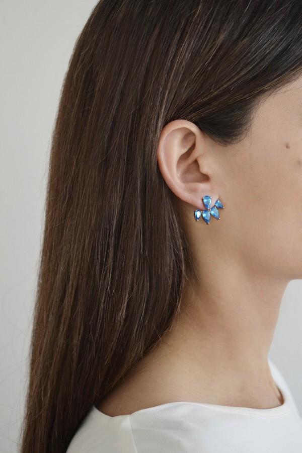 Σκουλαρίκι Μονό Blue Bubbles