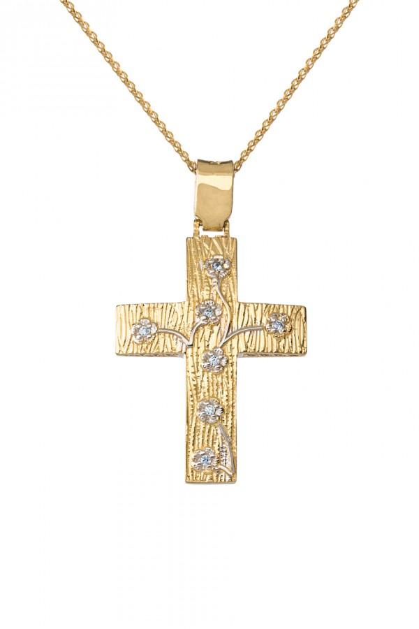 Σταυρός Βάπτισης Χρυσός 14Κ Πετράτος 1669