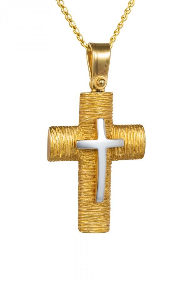 Σταυρός Βάπτισης Χρυσός 14Κ Ζαγρέ 4329