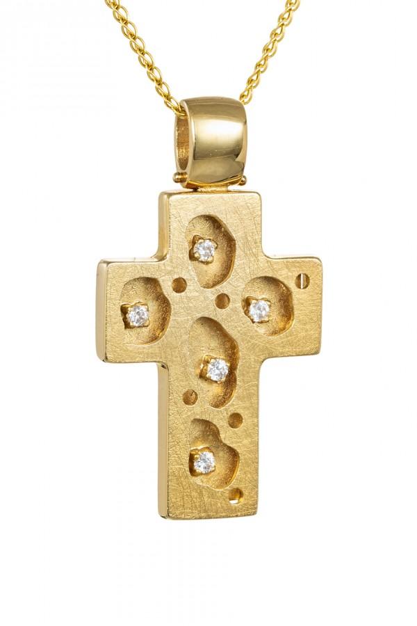 Σταυρός Βάπτισης Χρυσός 14Κ Σφυρήλατος 4331