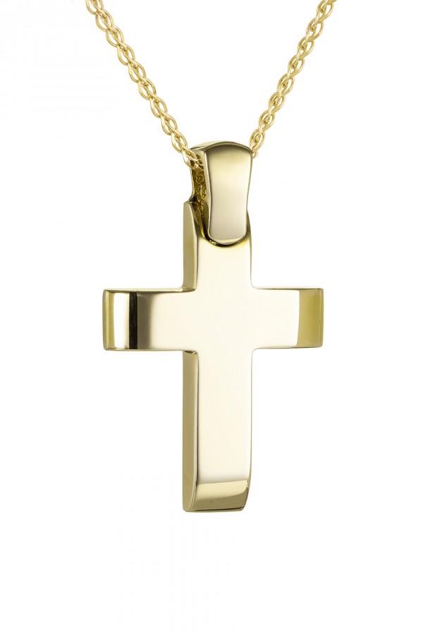 Σταυρός Βάπτισης Χρυσός Λουστρέ 4750