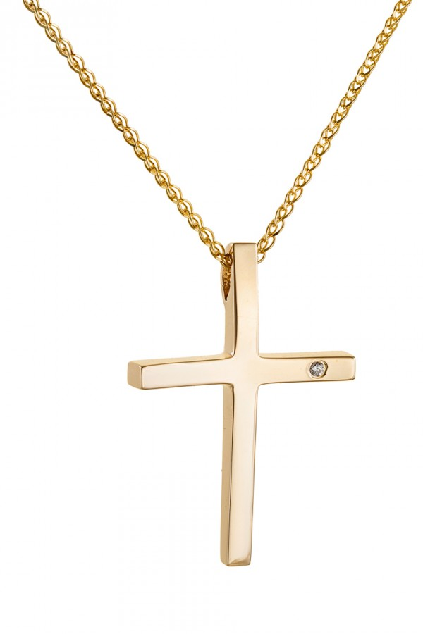 Σταυρός Βάπτισης Χρυσός 14Κ Λουστρέ 4752