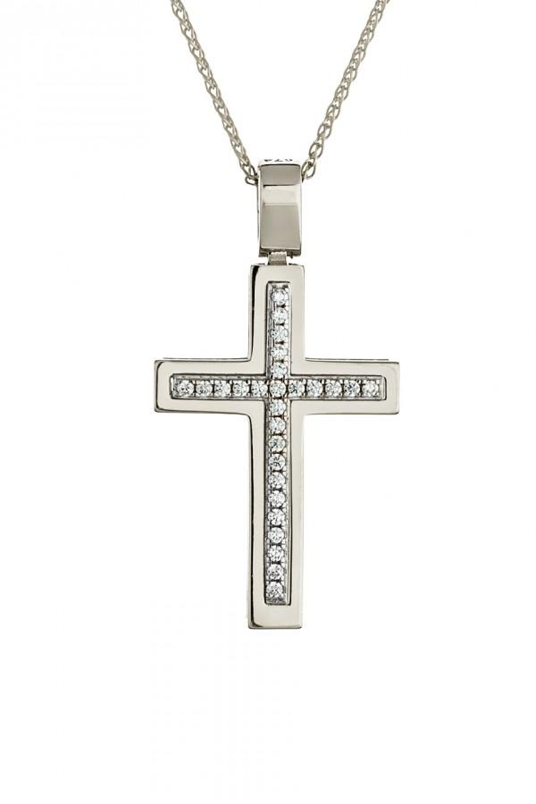 Σταυρός Βάπτισης Λευκόχρυσος Πετράτος 4753
