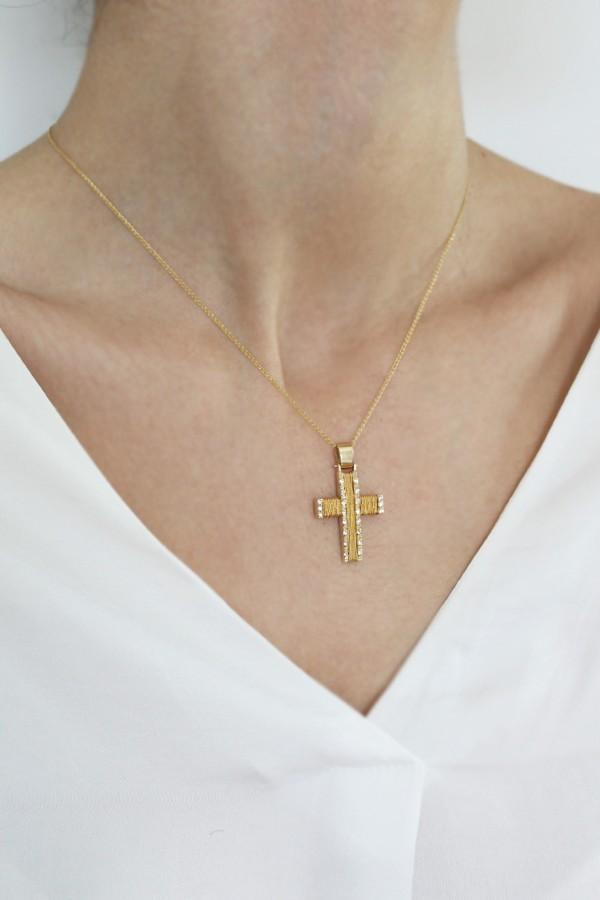 Σταυρός Βάπτισης Χρυσός 14Κ Χειροποίητος 3115