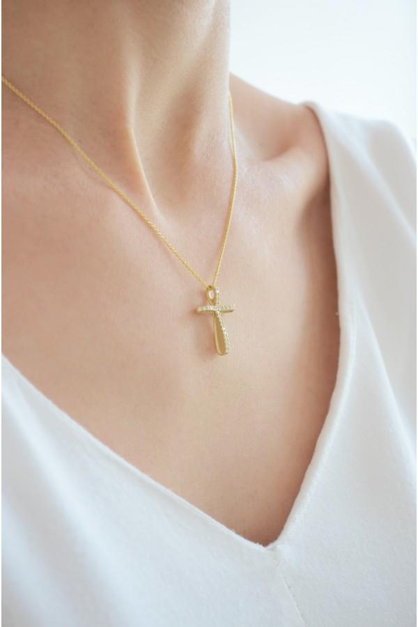 Σταυρός Βάπτισης Χρυσός 14Κ Φιόγκος 3970