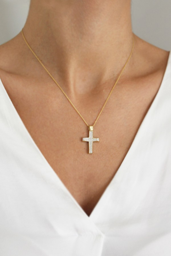 Σταυρός Βάπτισης Χρυσός 14Κ Πετράτος 4061