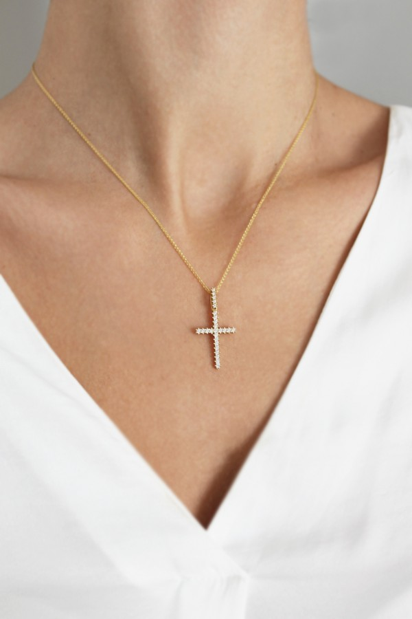 Σταυρός Βάπτισης Χρυσός 14Κ Πετράτος 4216