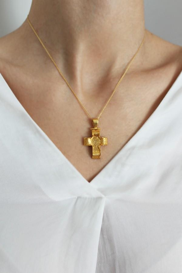 Σταυρός Βάπτισης Χρυσός 14Κ Σφυρήλατος 4328