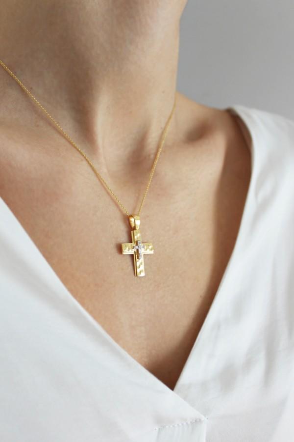 Σταυρός Βάπτισης Χρυσός 14Κ Ζαγρέ 4332