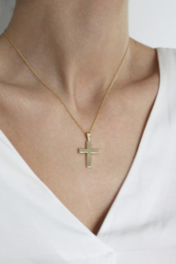 Σταυρός Βάπτισης Χρυσός 14Κ Minimal 4388