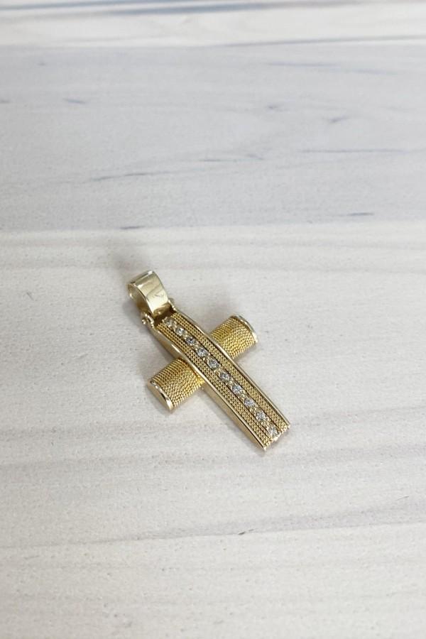 Σταυρός Βάπτισης Χρυσός Κ.14 Χειροποίητος 4699
